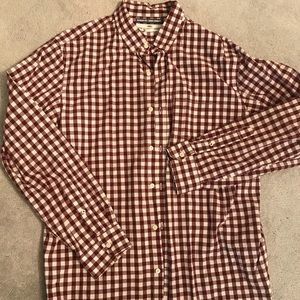 Old navy checkered plaid button up size XL